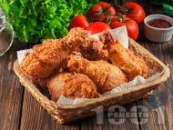 Пържени пилешки бутчета, панирани в брашно в еърфрайър (Air Fryer, въздушен фритюрник)